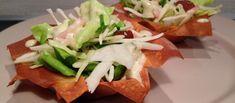 Salade in filodeeg bakje