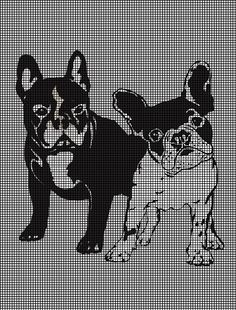 French Bulldogs Crochet Pattern