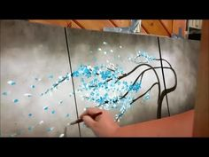 How to paint a tree blowing in the wind STEP by STEP - YouTube