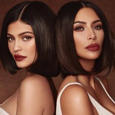 Shop Kim Kardashian West and Kylie Jenner Lip Set Collaboration. Includes 1 Velvet Liquid Lipstick, 2 Matte Liquid Lipsticks and 1 Gloss. Estilo Kardashian, Looks Kim Kardashian, Kardashian Braids, Kim Kardashian Kylie Jenner, Estilo Kylie Jenner, Robert Kardashian, Kardashian Family, Kardashian Kollection, Kardashian Style