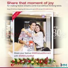 Our model Brian O and Honey G in the IMM Shopping Mall 2016 Christmas Print Ad.