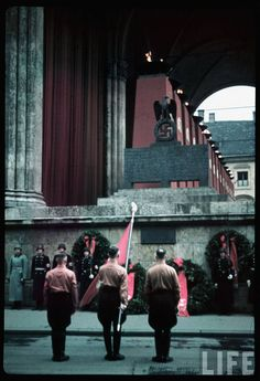 Munich Germany November 9, 1938 during the remembrance of the Putsch