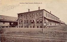 Ohio Postcard 1910 MIDDLETOWN American Cigar Company FACTORY Tobacco