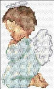 Image result for angel de la guarda punto de cruz