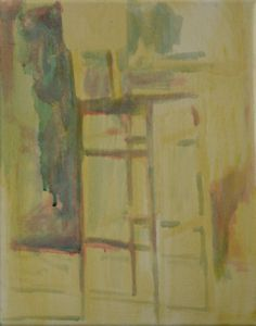 Tall Chair oil on canvas 23x30cm