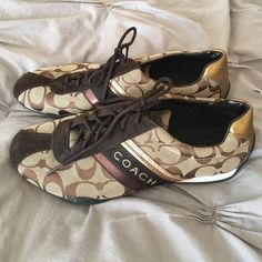 7e131ce32c9 Coach Sneakers Great black and gold sneakers. Hardly worn. Coach Shoes  Sneakers  Designerhandbags