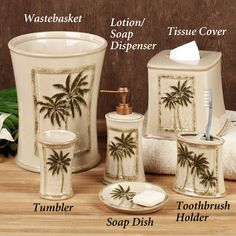 paradise palm bath accessories - Palm Tree Decor