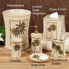 Paradise Palm Bath Accessories
