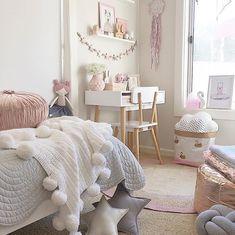 Freddie & Ava Pom Pom Blanket. #kids #children #nursery #kidsroom #childrensbedroom