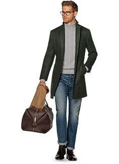Green Overcoat J457 | Suitsupply Online Store