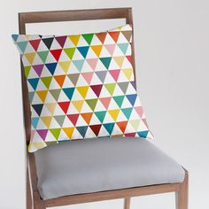 Geometric pillow cover with colourful by JAYSANSTUDIO on Etsy