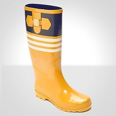 RUGBY STRIPED RAIN BOOT