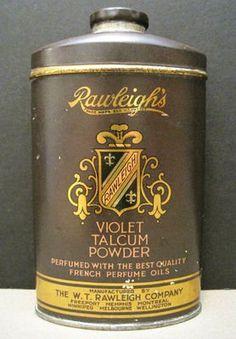 vintage talc powder label