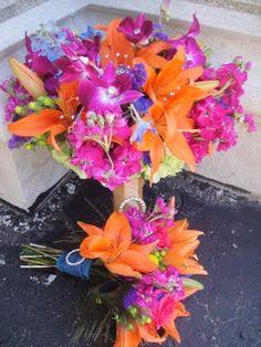Pink Orange Purple bouquet