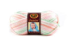 JAMIE- PASTEL STRIPES - This modern update of our classic Jamie® yarn features a sophisticated sherbet color palette and a versatile DK weight. Snuggly soft, machine washable and dryable this yarn is perfect for every baby project.