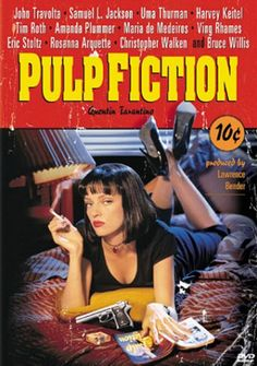 Directed by Quentin Tarantino.  With John Travolta, Uma Thurman, Samuel L. Jackson, Bruce Willis. The lives of two mob hit men, a boxer, a gangster's wife, and a pair of diner bandits intertwine in four tales of violence and redemption.