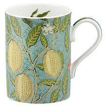 Buy Sanderson William Morris & Co. Fruit Slate/Thyme Mug Online at johnlewis.com