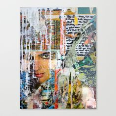 Pour Stretched Canvas by Katy Hirschfeld - $85.00