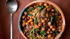 Chickpeas are often cooked with spinach, from India to the New World. But in southern Spain, they are mostly made with chorizo. Combine these ideas, and you have a rich, deep, full-flavored stew perfect for a fast dinner on a cold night. Click the link to read the complete recipe. (Photo: Evan Sung for The New York Times)