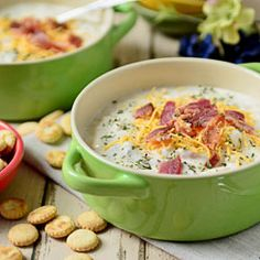 This Creamy Bacon Potato soup is a stick-to-your-ribs type meal that is perfect for a cold winter chill.