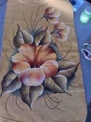 Resultado de imagen para vanuza cunha pintura em tecido One Stroke Painting, Tole Painting, Fabric Painting, Painting & Drawing, Pencil Drawings Of Flowers, Art Drawings, Fabric Paint Designs, Hand Painted Fabric, Vintage Flowers