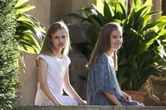 Infanta Sofia and Princess Leonor of Spain in summer photo 2017