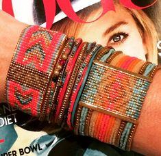 Loom Bracelets, Friendship Bracelets, Jewelry Bracelets, Bangles, Diy Jewelry, Beaded Jewelry, Jewelry Making, Bead Loom Patterns, Beading Patterns