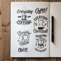 Many people assume that it is easy to make a pot of coffee. Coffee is actually. Coffee Typography, Coffee Logo, Typography Letters, Typography Logo, Graphic Design Typography, Logo Design, Coffee Coffee, Coffee Type, Coffee Shop