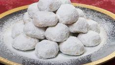 Recipe for Kourabiedes (Almond sugar cookies) Greek Sweets, Greek Desserts, Almond Sugar Cookies, Greek Cookies, Greek Dishes, Food Journal, Shortbread Cookies, Baking, Recipes