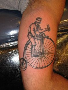 penny farthing bicycle tattoo - Google Search
