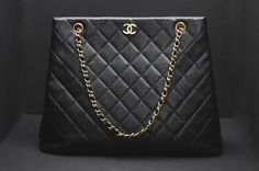 Chanel Caviar Black Quilted Leather Shopper Tote   http://www.biltmoreluxurydirect.com  #LIKEifyouLOVE #biltmorelux