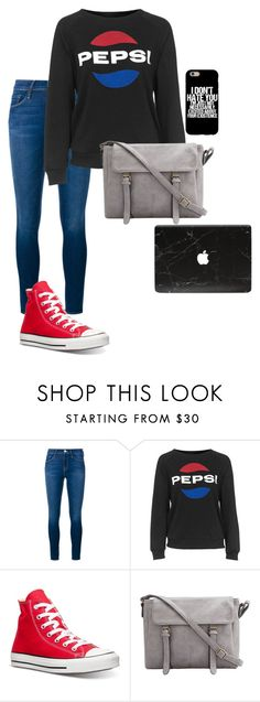 """""""Middle school"""" by freefriendswillwalk ❤ liked on Polyvore featuring Frame Denim, Topshop and Converse"""