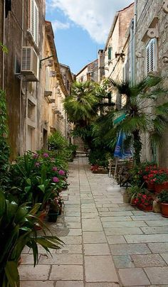 Alley in Orebić, Dalmatia, Croatia. The town of Orebić has a very rich history and culture, nice beaches, and is a popular place to visit on the Peljesac Peninsula. Photo by Philipp Baumann (V)