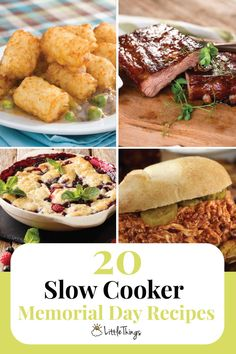 20 Slow Cooker Memorial Day Recipes: Start the summer off right with these delicious recipes.