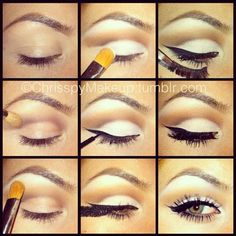 define the crease first, then highlight the lid and brow -must try this