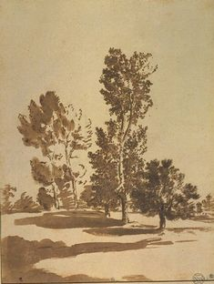 Nicolas Poussin (1594–1665), Landscape with Five Trees.