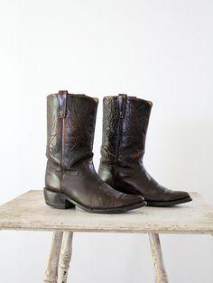 e5339927c10 Acme Boots    1970s Leather Boots    Men 9 - Women 10.5