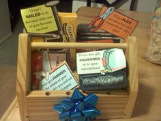 How to Upcycle an Ordinary Tool Kit into a Creative Gift. Good Housewarming gift too. Gifts for men. Gift for moving