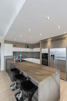 Halmann Vella Kitchen Tops in Malta and Gozo Kitchen Tops, Home Kitchens, Countertops, Conference Room, Elegant, Gallery, Brown, Table, Furniture