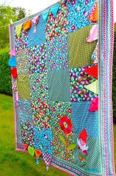 Baby blanket by farbenmix #zwergcarlitos #baby #sewing #farbenmix
