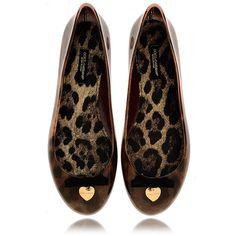 DOLCE & GABBANA BALLERINA Brown Leopard