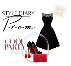 """prom"" by ajlakukic ❤ liked on Polyvore featuring Christian Louboutin, Chanel, PROMNIGHT and black_and_red"