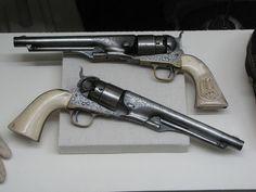 Confederate General John Hunt Morgan's Pair of Engraved Colt Army Model 1860 Percussion Revolvers