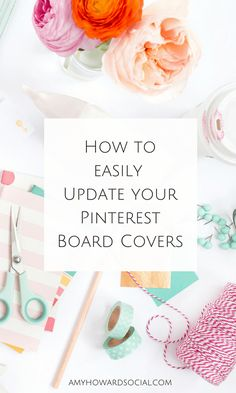 Find out how to update your Pinterest Board Covers with Stock Photography with these tips from Pinterest and social media strategist, Amy Howard Social! Social Media Strategist, Social Media Tips, Social Media Marketing, Affiliate Marketing, Foto Instagram, Instagram Tips, Amy Howard, Wordpress, Online Shops