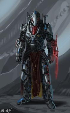 Newer version here: A character concept for my sci-fi project. Captain Allister, the leader of the Lemurian Executioner squad, one of the 11 most renowned and elite squads in the empire. Futuristic Armour, Futuristic Art, Fantasy Armor, Sci Fi Fantasy, Android Robot, Armadura Sci Fi, Character Concept, Character Art, Rpg Cyberpunk