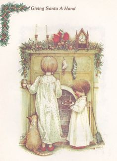 Holly Hobbie was around when I was a little girl. (I remember having a gazebo playset with Holly Hobbie dolls. Christmas Books, Vintage Christmas Cards, Christmas Love, Christmas Pictures, Christmas Postcards, Christmas Fabric, Holiday Cards, Christmas Decor, Holly Hobbie