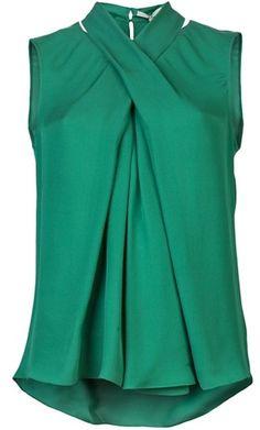 fe30db8cbd Sleeveless Top - Lyst Green Blouse