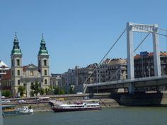 Danube River Cruise Ship    ||  DerTour Mozart   ||  Budapest, Hungary - Elisabeth Bridge (wife of King Franz Joseph  ||  140510