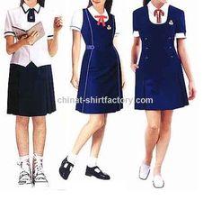 custom made school uniform/school uniform shirts wholesale Cheap School Uniforms, School Uniform Girls, Girls Uniforms, Make School, High School, Uniform Shirts, Uniform Design, Work Wear, Custom Made