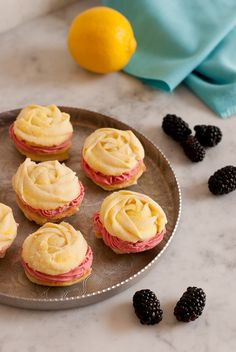 Lemon Blackberry Spritz Sandwich Cookies